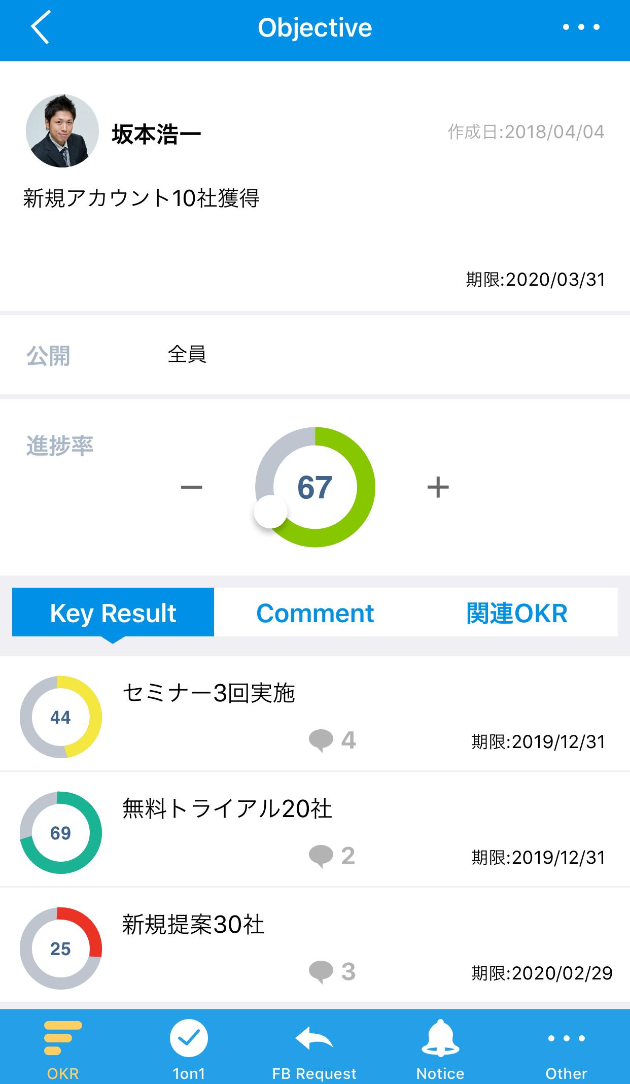 アプリ画面_パフォーマンスプラン_OKR